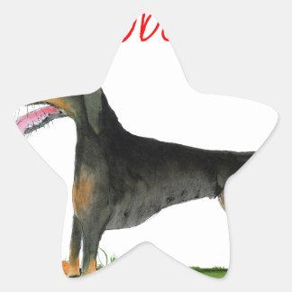 we luv dobermans from Tony Fernandes Star Sticker