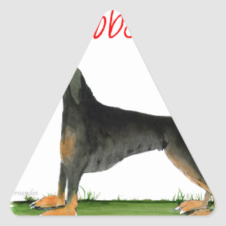 we luv dobermans from Tony Fernandes Triangle Sticker