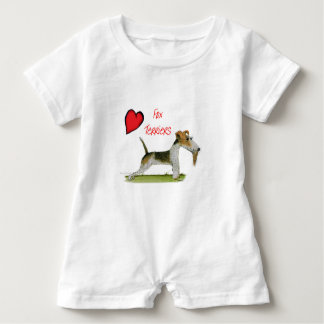 we luv fox terriers from Tony Fernandes Baby Romper