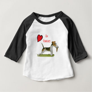 we luv fox terriers from Tony Fernandes Baby T-Shirt