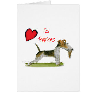 we luv fox terriers from Tony Fernandes Card