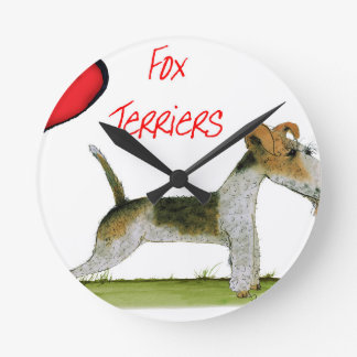 we luv fox terriers from Tony Fernandes Round Clock