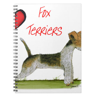 we luv fox terriers from Tony Fernandes Spiral Note Books