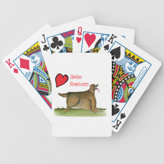 we luv golden retrievers from Tony Fernandes Bicycle Playing Cards
