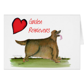 we luv golden retrievers from Tony Fernandes Card