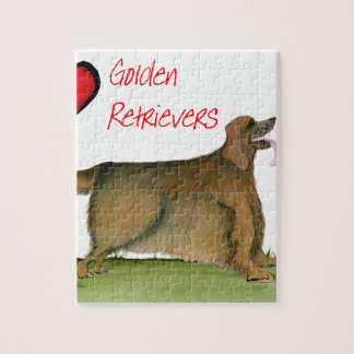 we luv golden retrievers from Tony Fernandes Jigsaw Puzzle