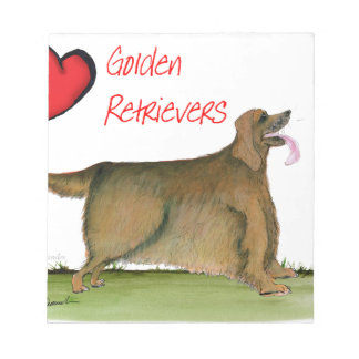 we luv golden retrievers from Tony Fernandes Notepad