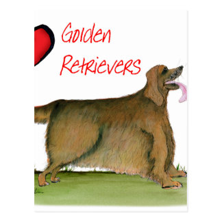 we luv golden retrievers from Tony Fernandes Postcard