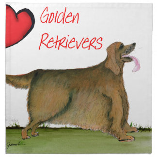 we luv golden retrievers from Tony Fernandes Printed Napkins