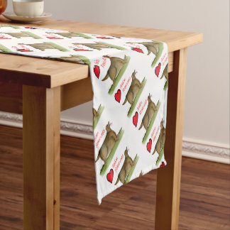 we luv golden retrievers from Tony Fernandes Short Table Runner