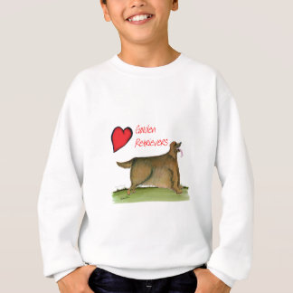 we luv golden retrievers from Tony Fernandes Sweatshirt