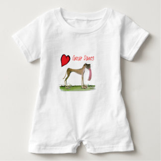 we luv great danes from Tony Fernandes Baby Romper