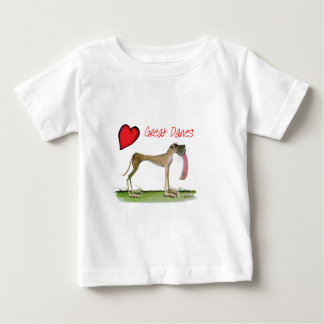 we luv great danes from Tony Fernandes Baby T-Shirt