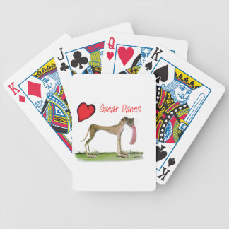 we luv great danes from Tony Fernandes Bicycle Playing Cards