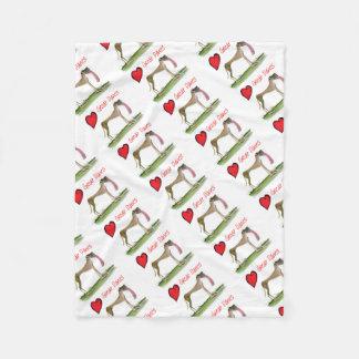 we luv great danes from Tony Fernandes Fleece Blanket