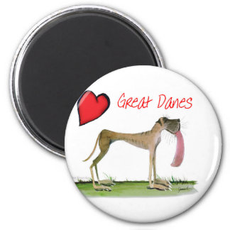 we luv great danes from Tony Fernandes Magnet