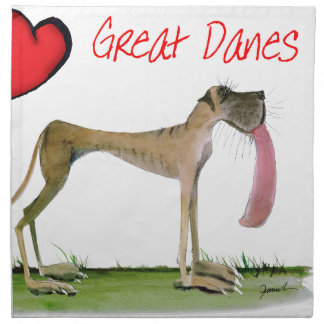 we luv great danes from Tony Fernandes Napkin
