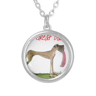 we luv great danes from Tony Fernandes Silver Plated Necklace