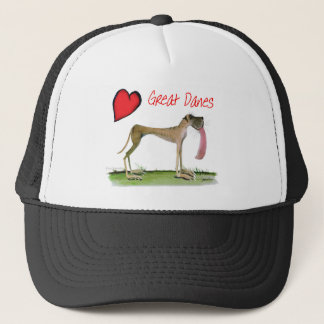 we luv great danes from Tony Fernandes Trucker Hat