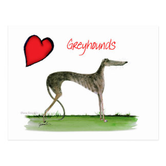 we luv greyhounds from Tony Fernandes Postcard