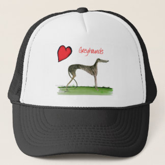 we luv greyhounds from Tony Fernandes Trucker Hat