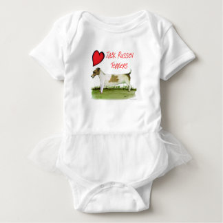 we luv jack russell terriers from Tony Fernandes Baby Bodysuit
