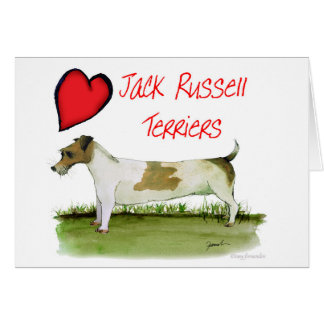 we luv jack russell terriers from Tony Fernandes Card