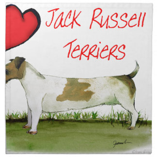 we luv jack russell terriers from Tony Fernandes Napkin