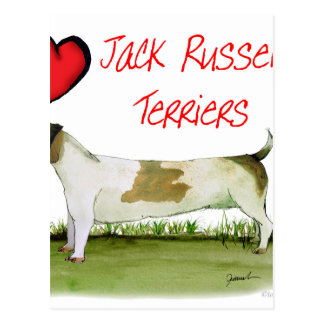 we luv jack russell terriers from Tony Fernandes Postcard