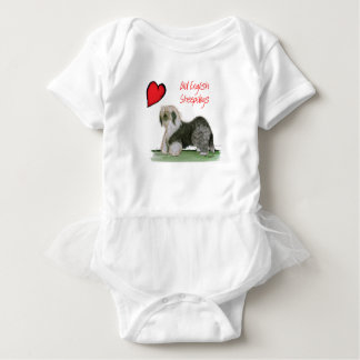 we luv old english sheepdogs, Tony Fernandes Baby Bodysuit