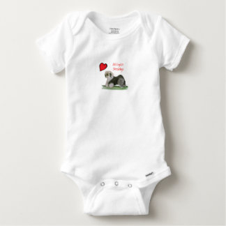 we luv old english sheepdogs, Tony Fernandes Baby Onesie
