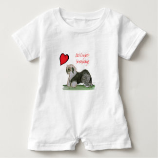 we luv old english sheepdogs, Tony Fernandes Baby Romper