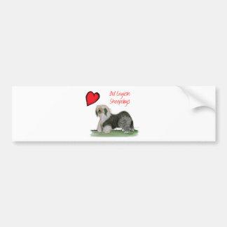 we luv old english sheepdogs, Tony Fernandes Bumper Sticker