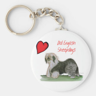 we luv old english sheepdogs, Tony Fernandes Keychain