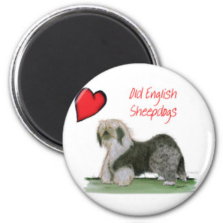 we luv old english sheepdogs, Tony Fernandes Magnet