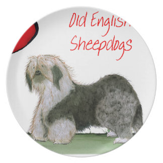 we luv old english sheepdogs, Tony Fernandes Plate