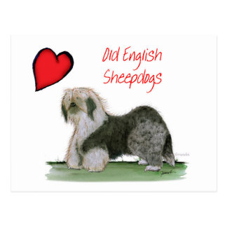 we luv old english sheepdogs, Tony Fernandes Postcard