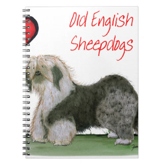 we luv old english sheepdogs, Tony Fernandes Spiral Notebook