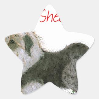 we luv old english sheepdogs, Tony Fernandes Star Sticker