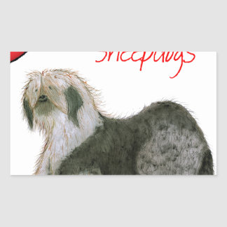 we luv old english sheepdogs, Tony Fernandes Sticker