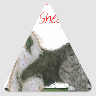 we luv old english sheepdogs, Tony Fernandes Triangle Sticker