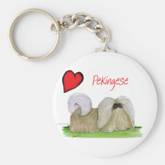 we luv pekingese from Tony Fernandes Keychain