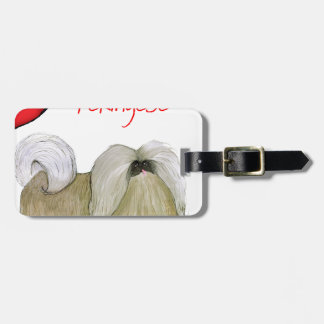we luv pekingese from Tony Fernandes Luggage Tag