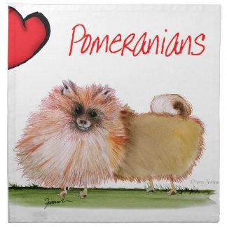we luv pomeranians from Tony Fernandes Napkin