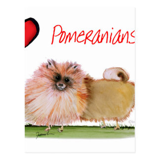 we luv pomeranians from Tony Fernandes Postcard