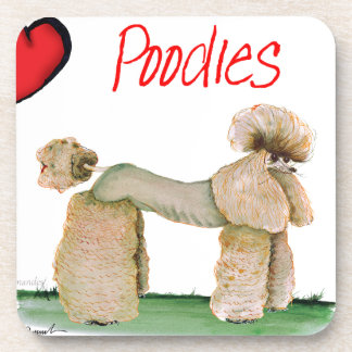 we luv poodles from Tony Fernandes Beverage Coasters