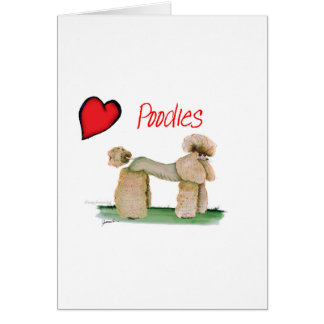 we luv poodles from Tony Fernandes Card