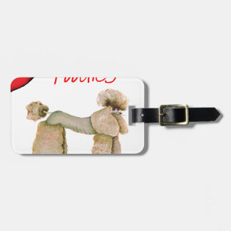 we luv poodles from Tony Fernandes Luggage Tag