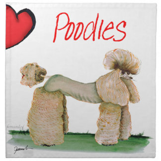 we luv poodles from Tony Fernandes Napkin