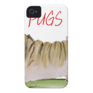 we luv pugs from Tony Fernandes Case-Mate iPhone 4 Case